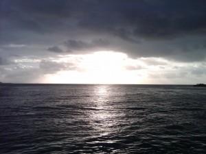 Sunrise betweeen Vieques y la Isla Grande
